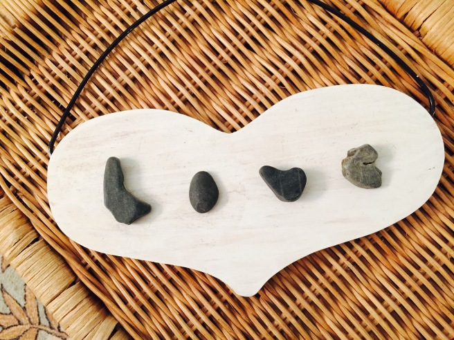 I found these rocks on a beach in Maine after George was diagnosed the first time with melanoma over 10 years ago.